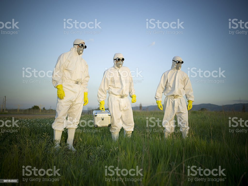 People with masks royalty-free stock photo