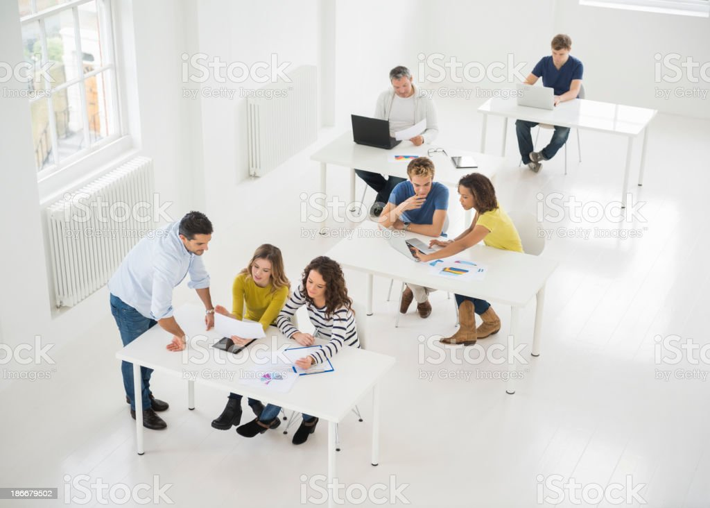 People Working In Office royalty-free stock photo