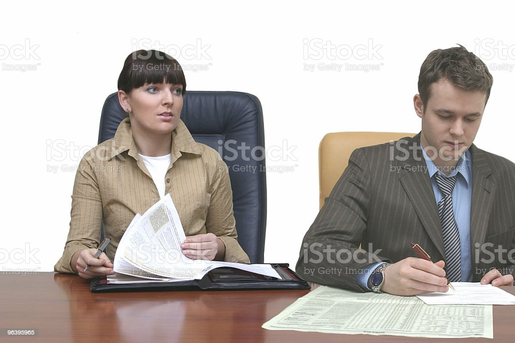 People working in the office - Royalty-free Adult Stock Photo