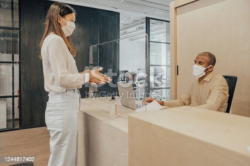 People working with mask during the Covid-19