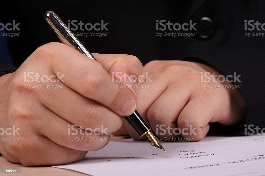 People writting stock photo