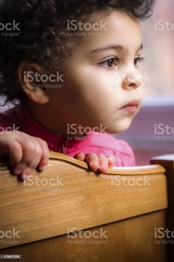 PEOPLE:Child Is Looking out of Window royalty-free stock photo