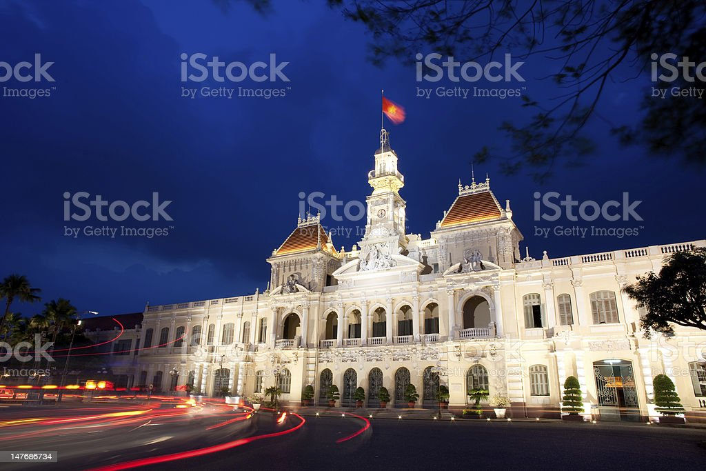 People's Committee building, Saigon, Ho Chi Minh City, Vietnam royalty-free stock photo