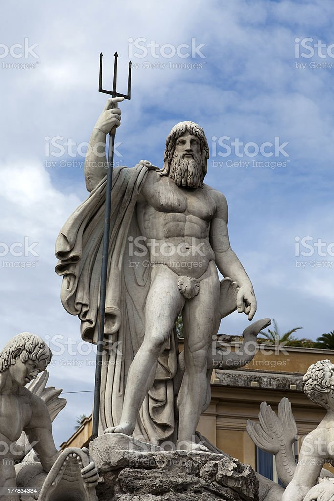 Porta del Popolo in Rome royalty-free stock photo