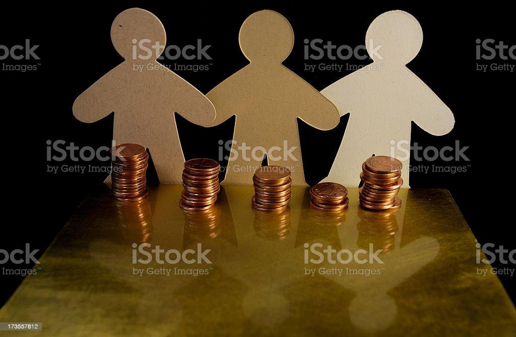 People's Money royalty-free stock photo