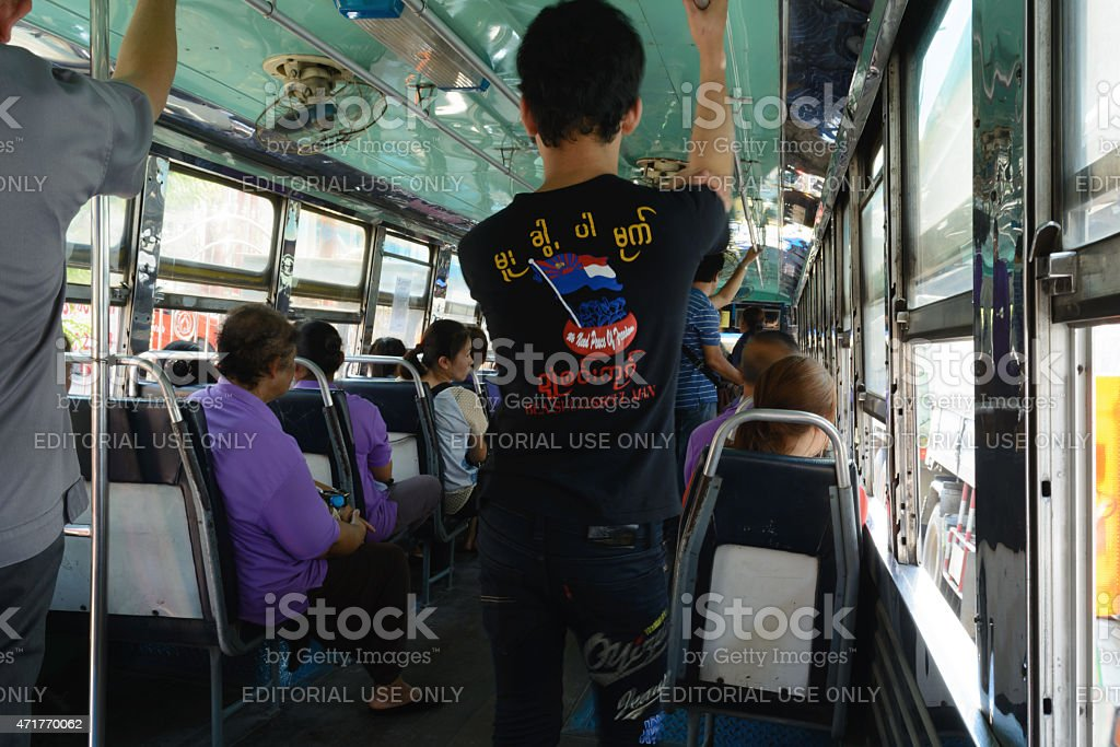 peoples on the bus No.124 stock photo