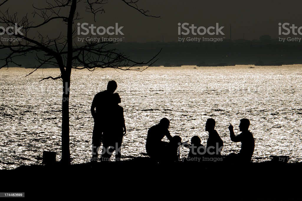 People's  silhouette stock photo