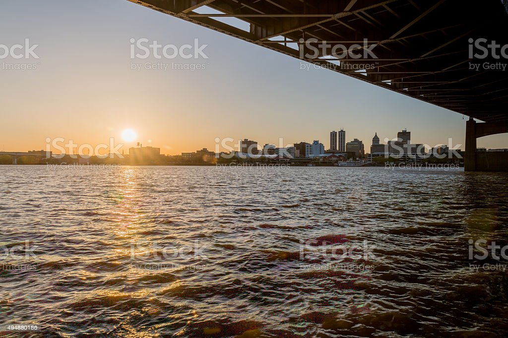 Peoria at sunset stock photo
