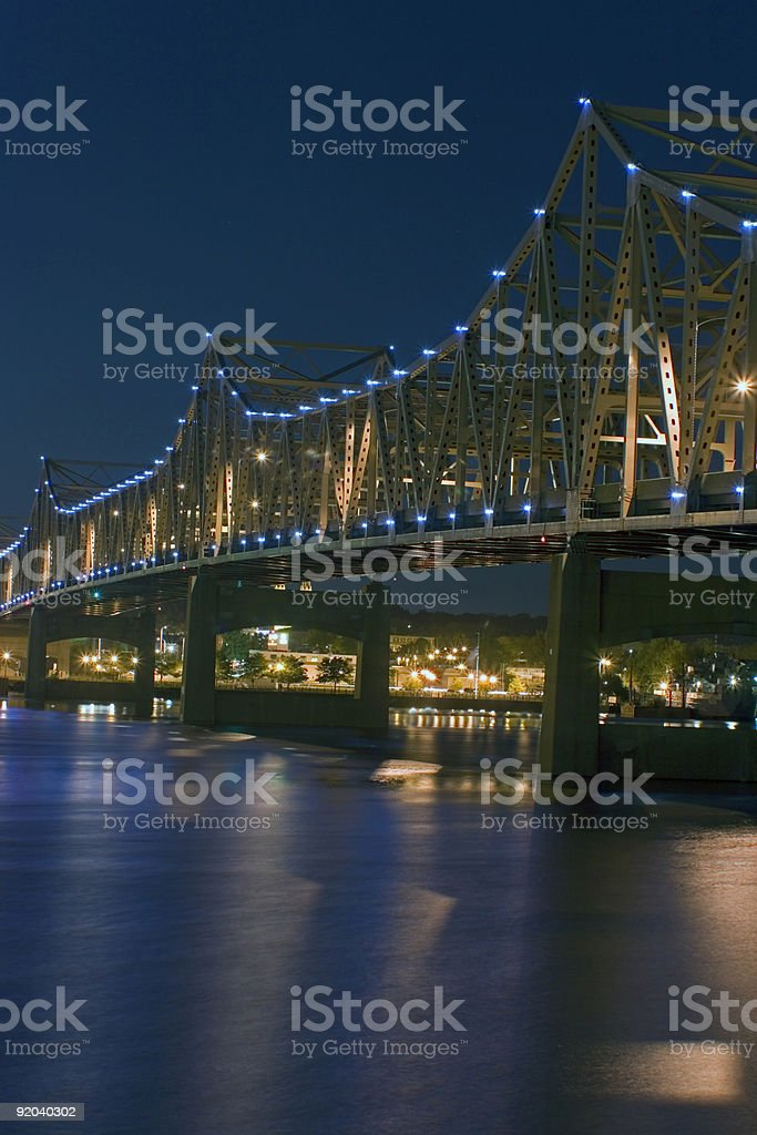 Peoria, IL - Bridge stock photo