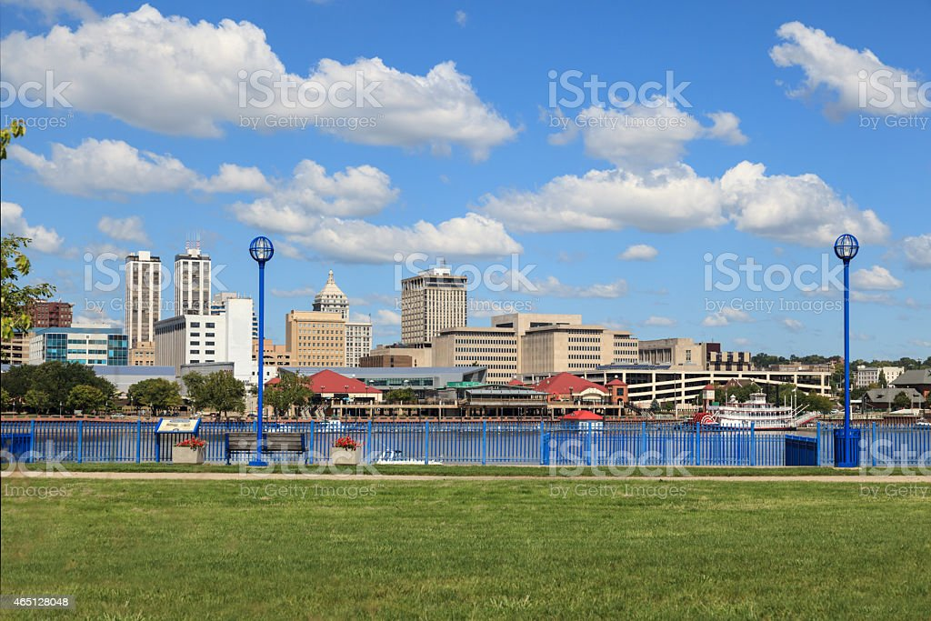 Peoria, Illinois Downtown Riverfront stock photo