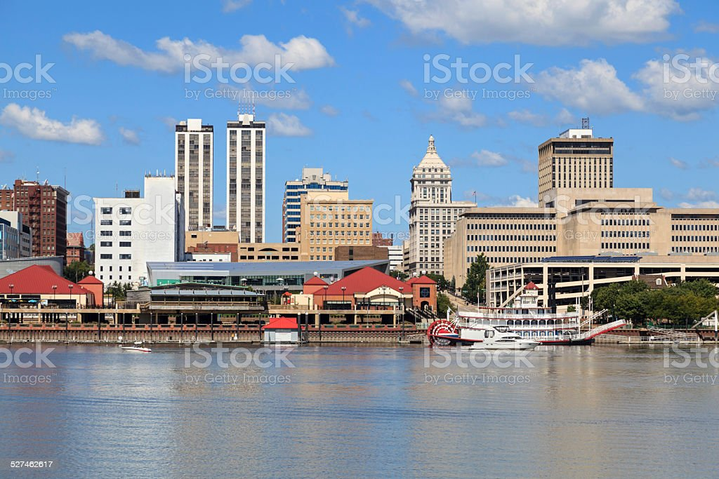 Peoria, Illinois Riverfront stock photo
