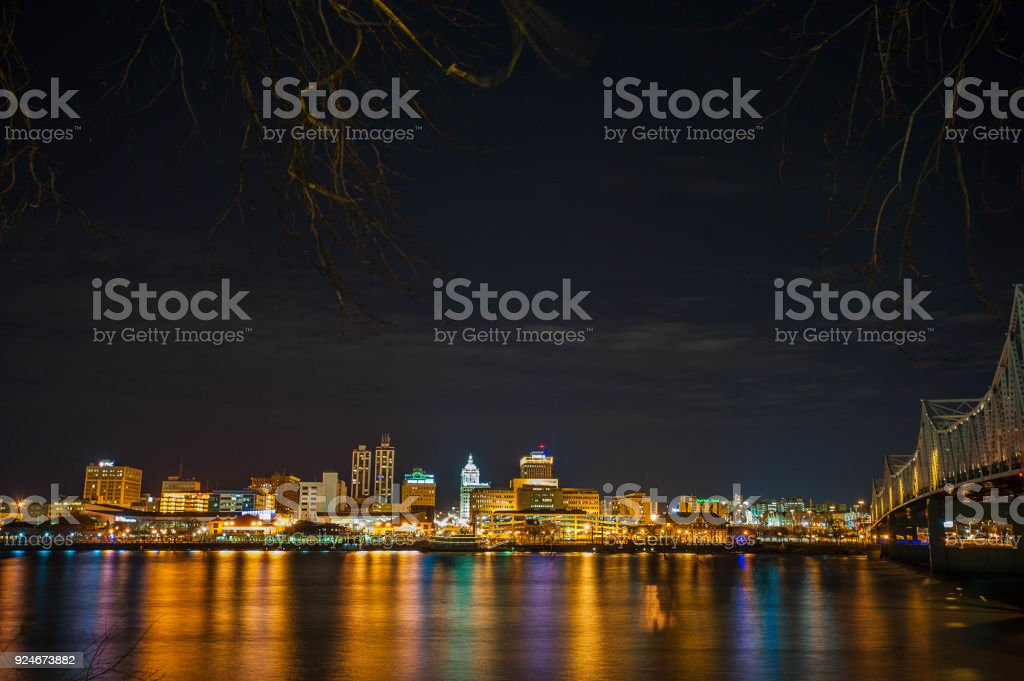 Peoria Riverfront stock photo