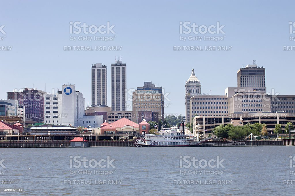 Peoria Riverfront Skyline stock photo