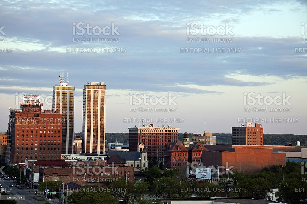 Peoria skyline stock photo