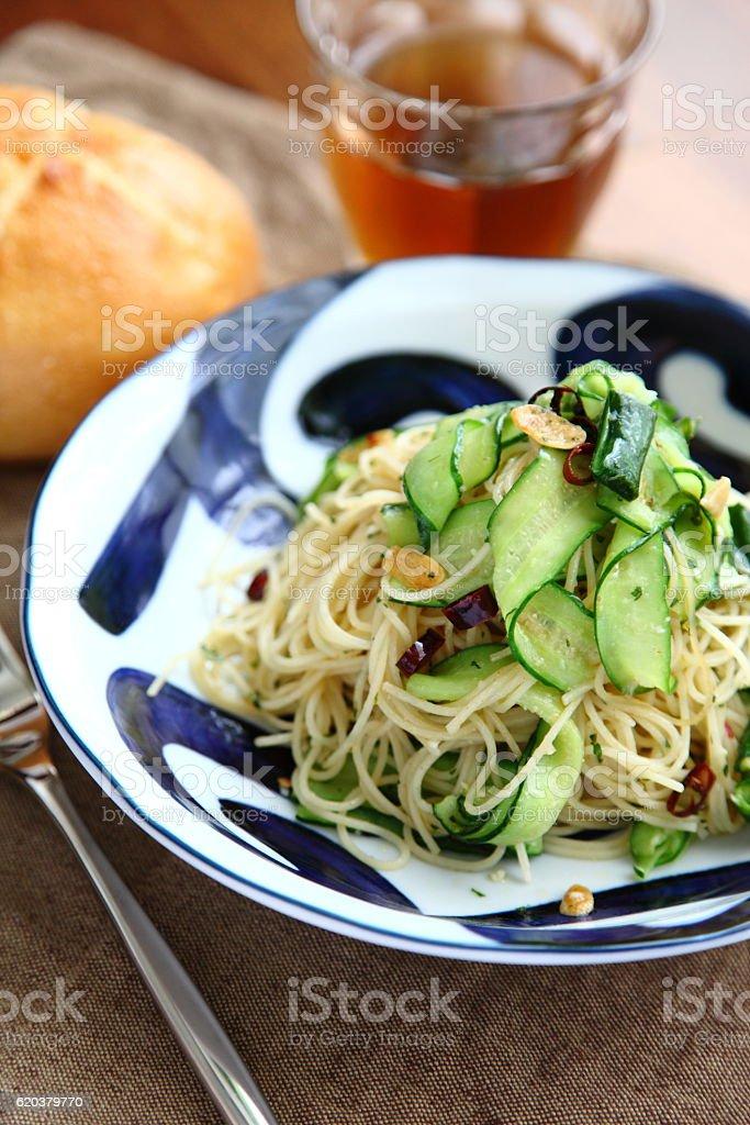 Peperoncino with cucumber zbiór zdjęć royalty-free