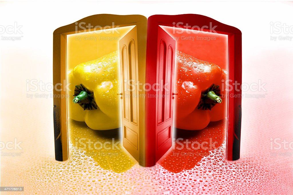 peperoni colorati royalty-free stock photo