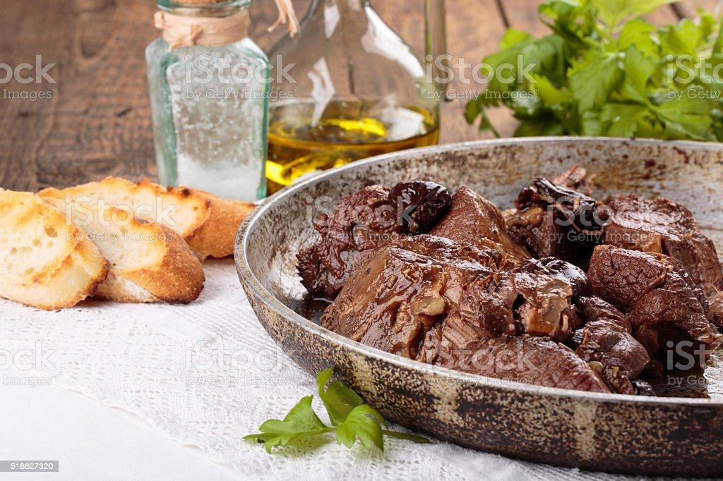 Peposo Peppered Beef Stew. stock photo