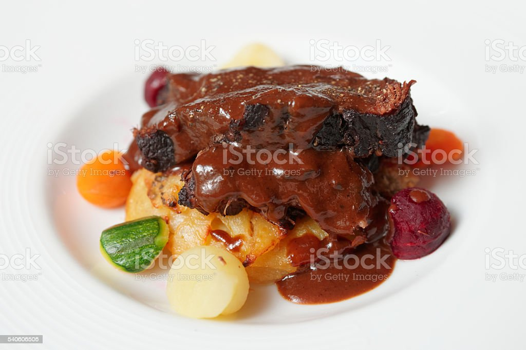 Peposo, Tuscan stewed meat stock photo