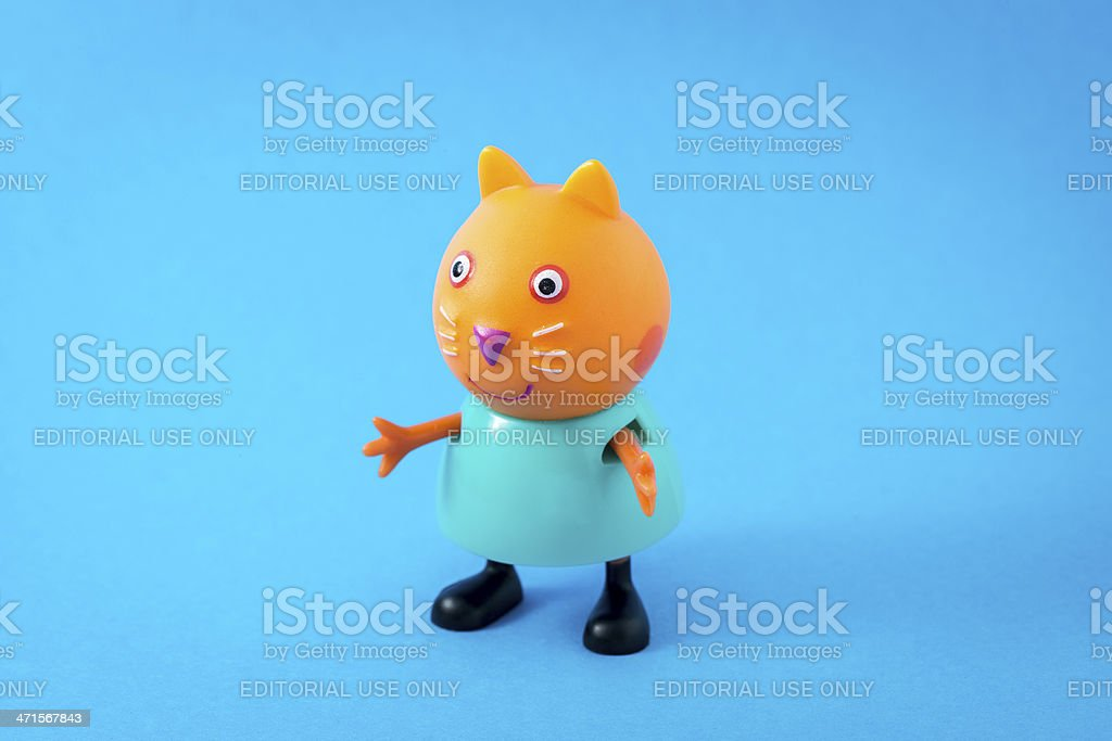 Peppa Pig animated television series characters: Candy Cat stock photo