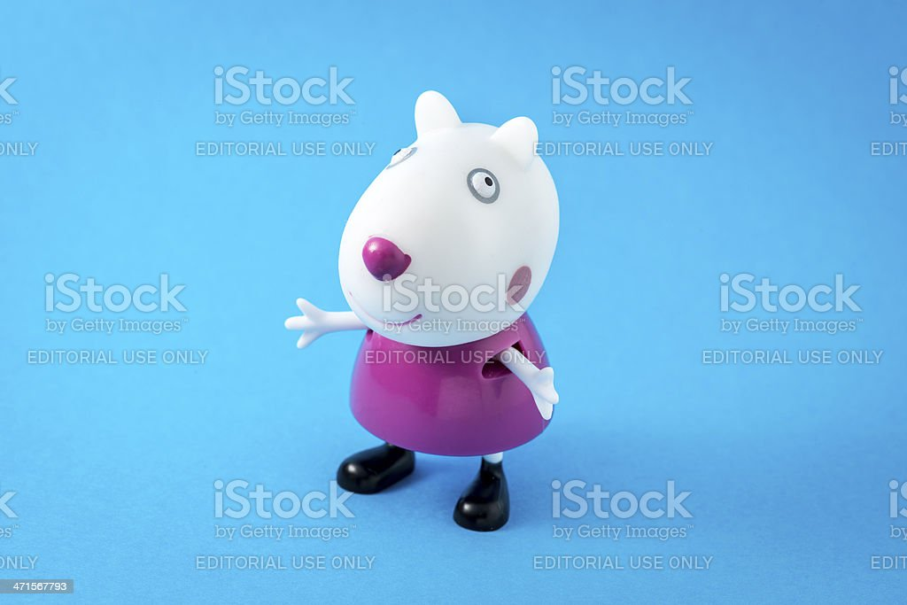 Peppa Pig animated television series characters: Suzy Sheep stock photo