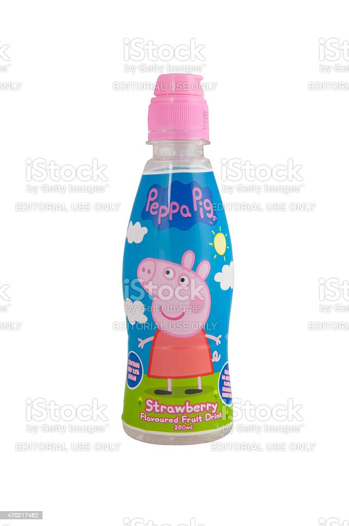 Peppa Pig Flavoured Drink stock photo
