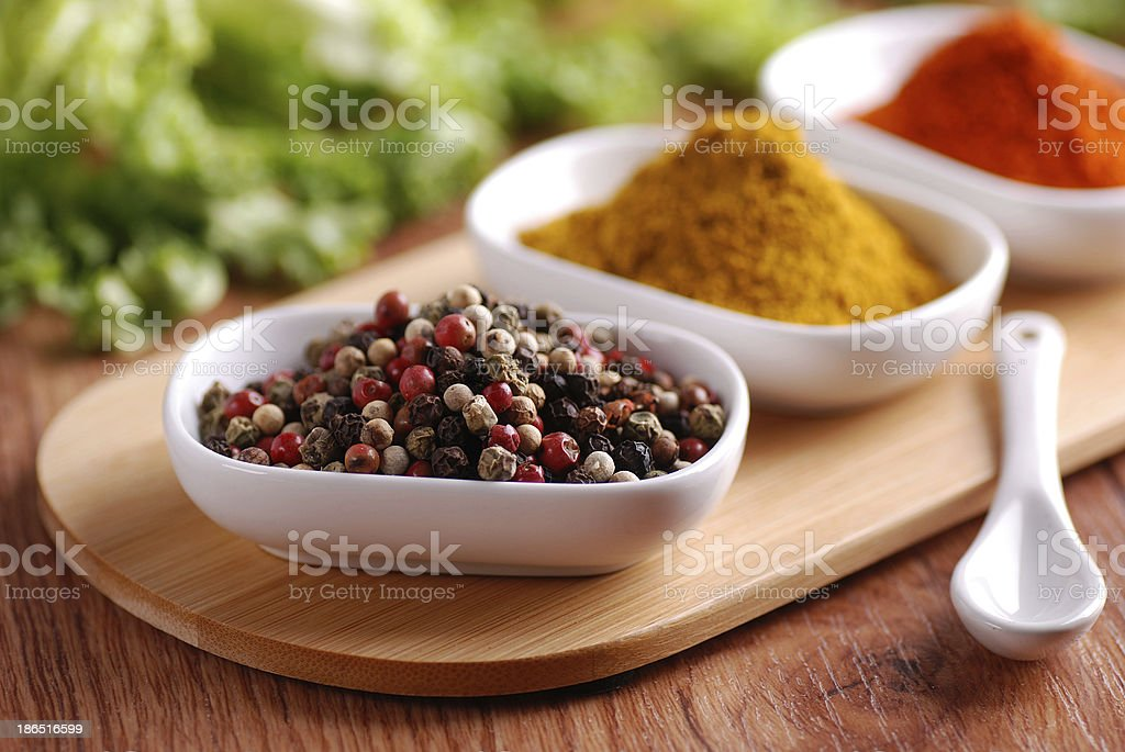 pepper and other spices royalty-free stock photo