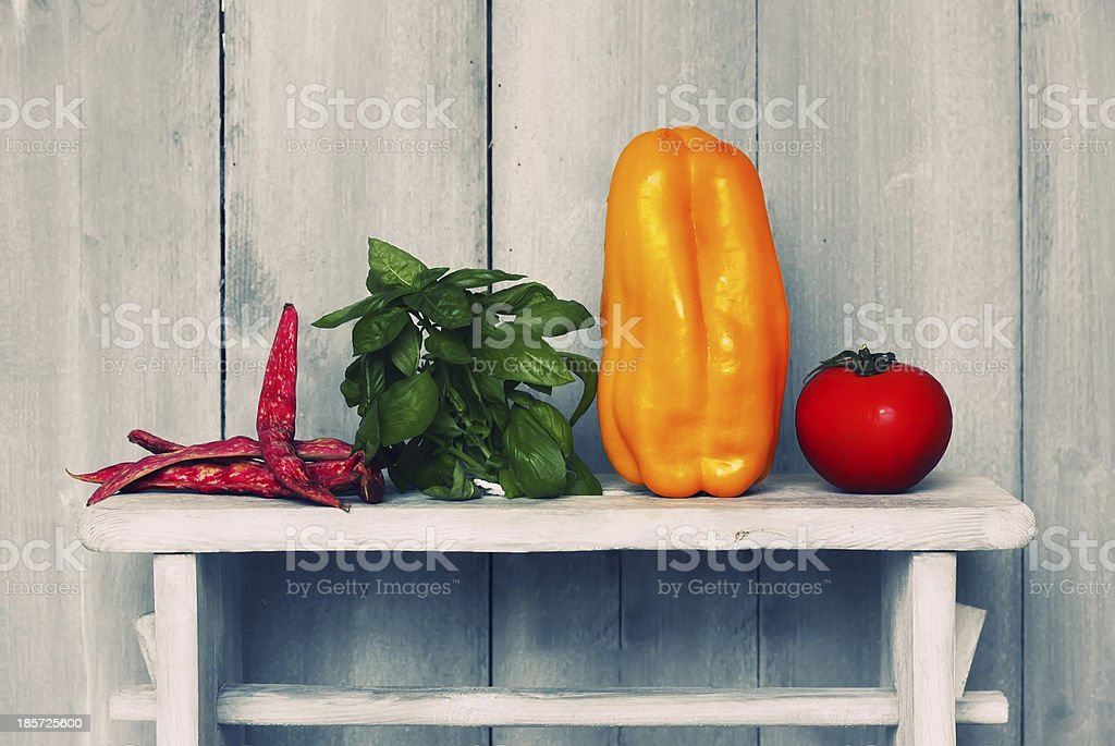 Pepper and parsley royalty-free stock photo
