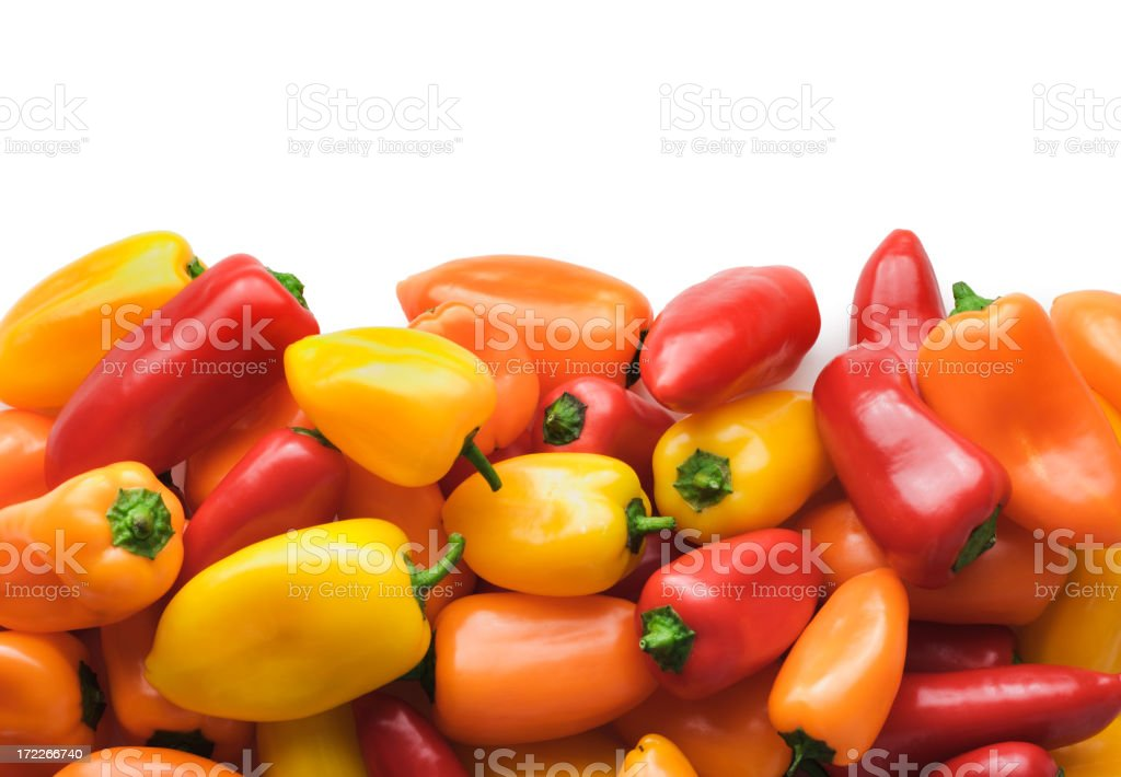 Pepper Bottom Border royalty-free stock photo