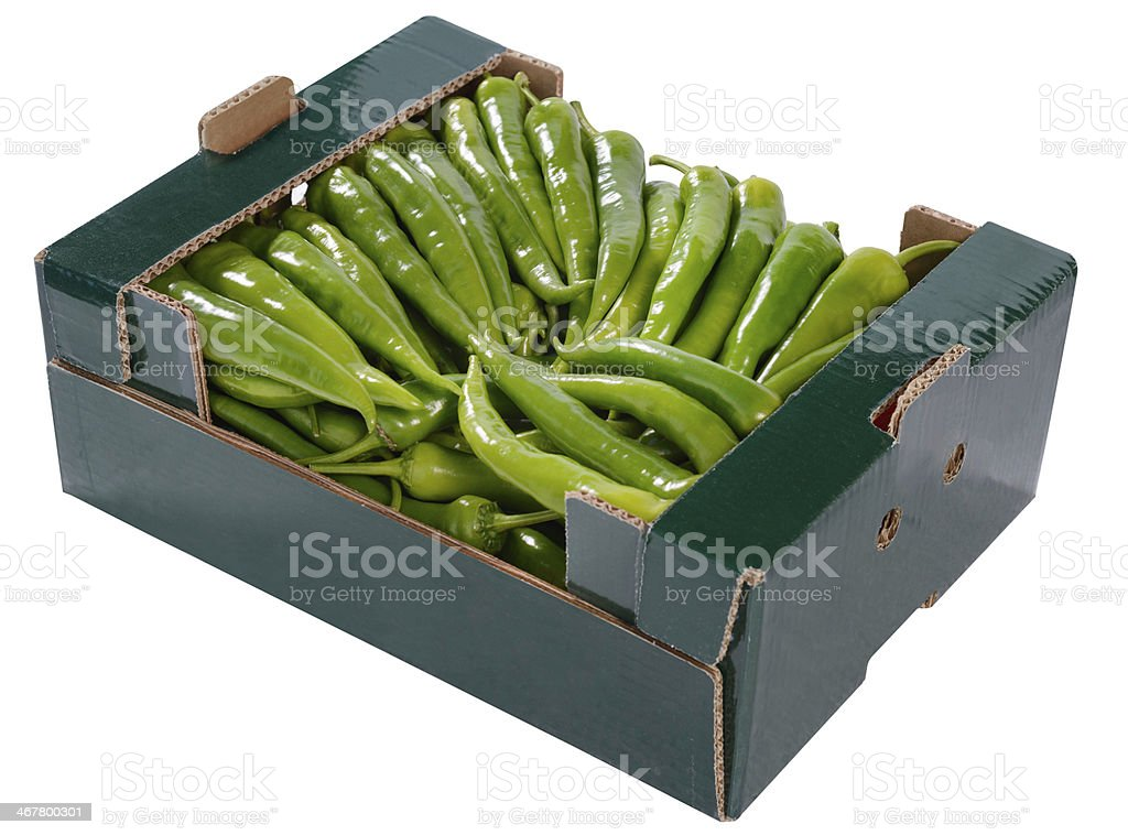 Pepper in box royalty-free stock photo