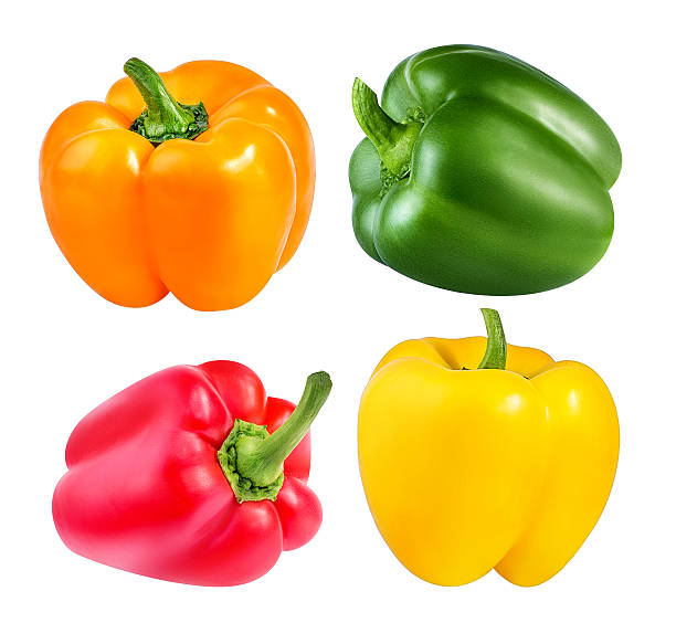 pepper isolated on a white stock photo