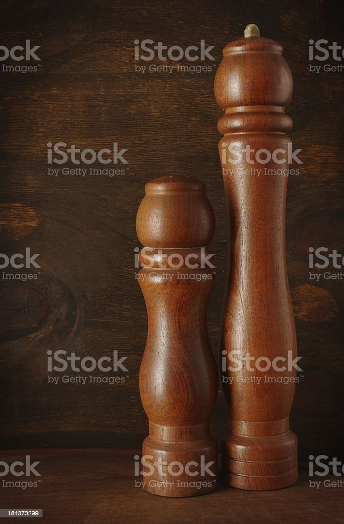 Pepper Mill and Salt Shaker stock photo
