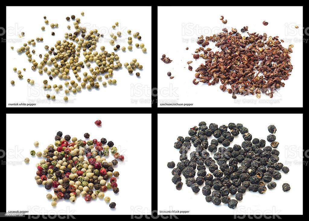 pepper mixtures stock photo