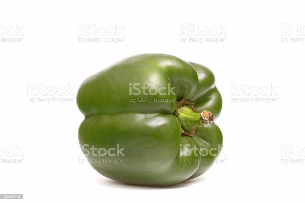 Pepper on white royalty-free stock photo