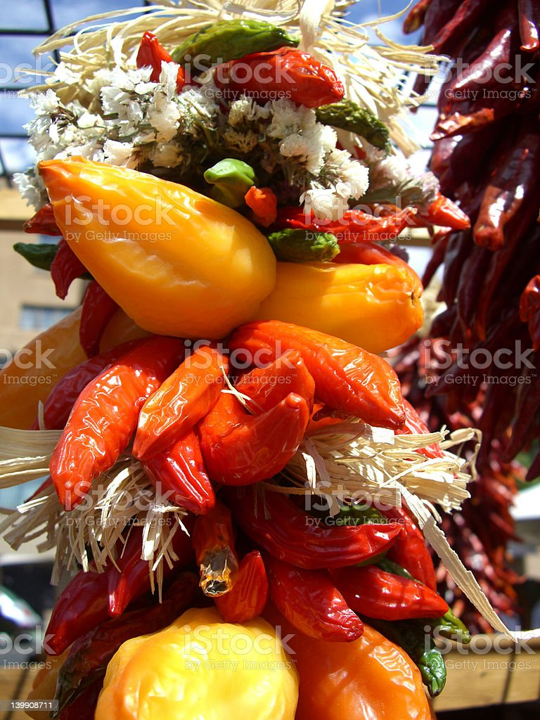 Pepper Ristra royalty-free stock photo