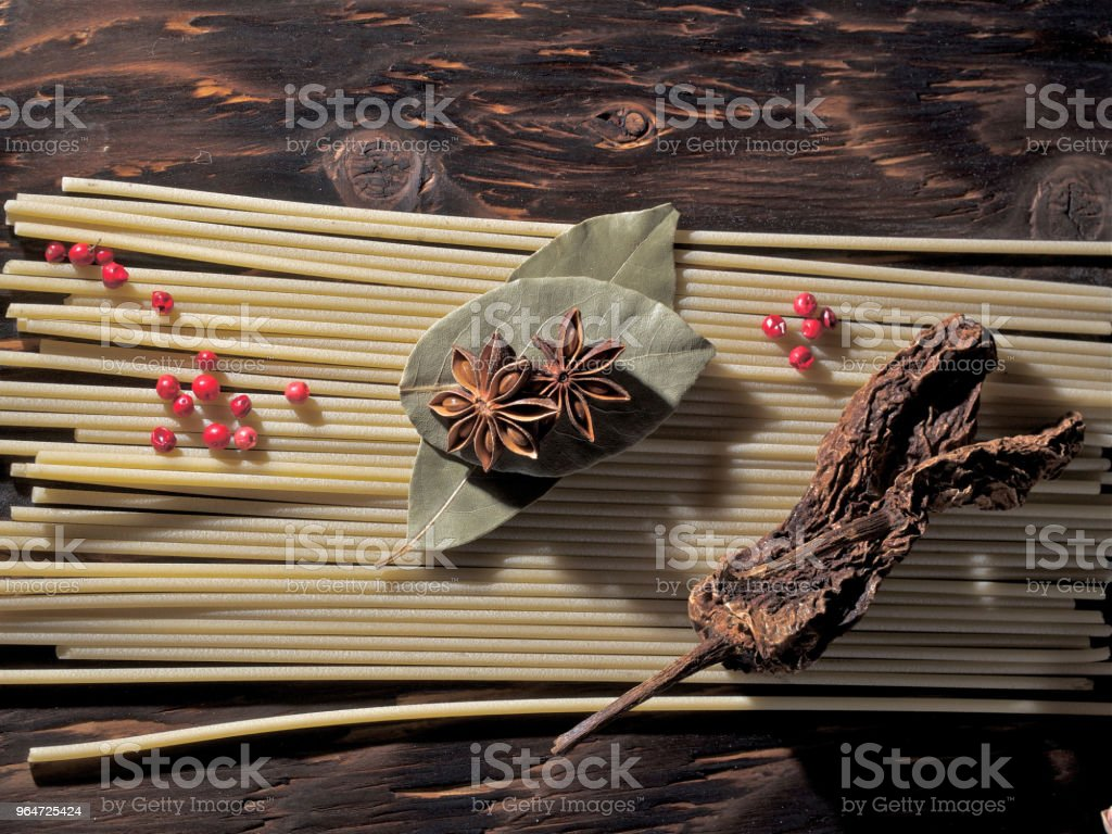 pepper, spice, pasta, royalty-free stock photo