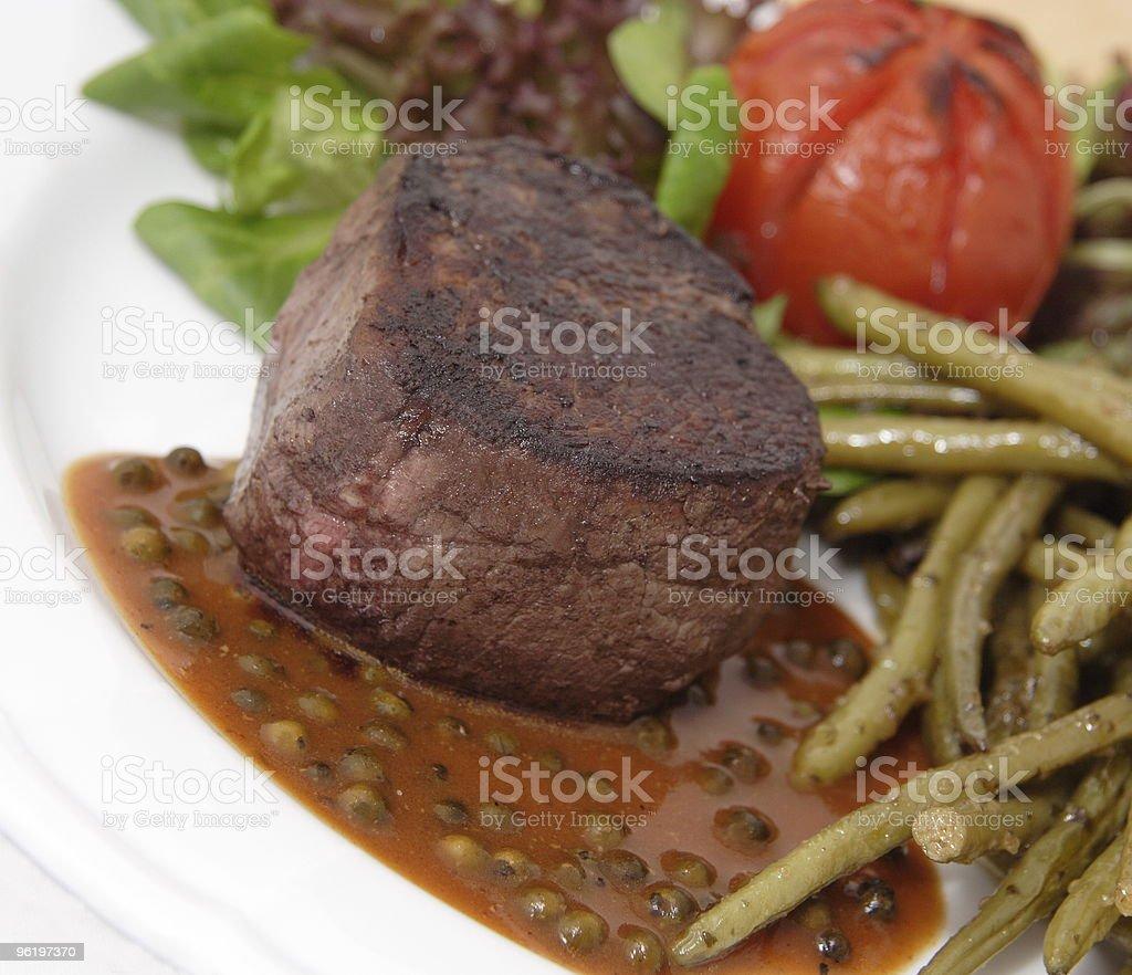 Pepper steak lomo stock photo