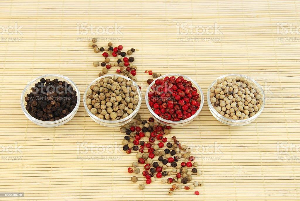 peppercorns stock photo