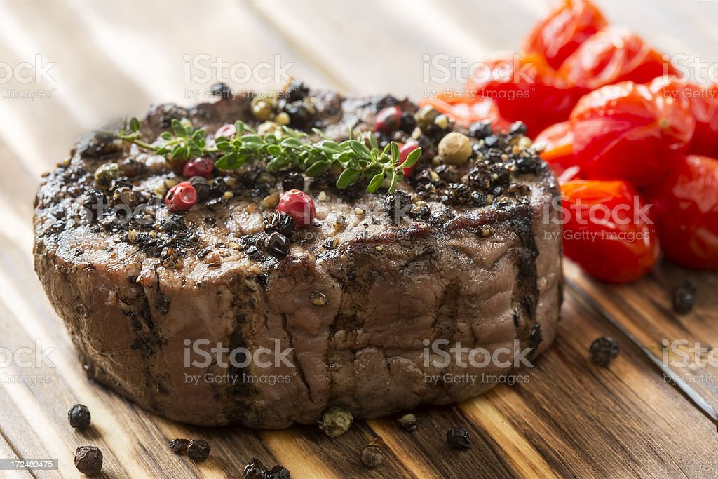 Peppered Fillet Steak royalty-free stock photo