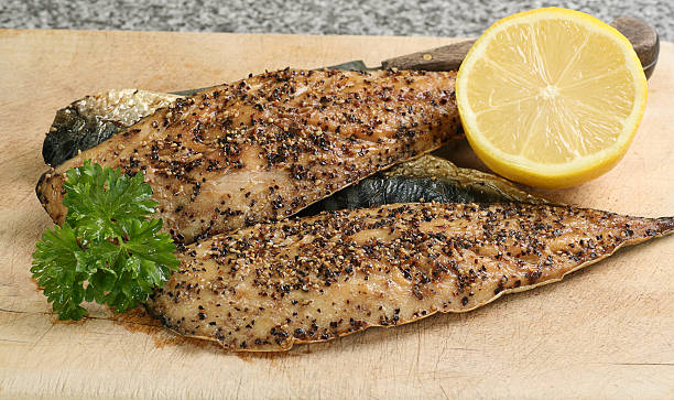 peppered mackerel stock photo