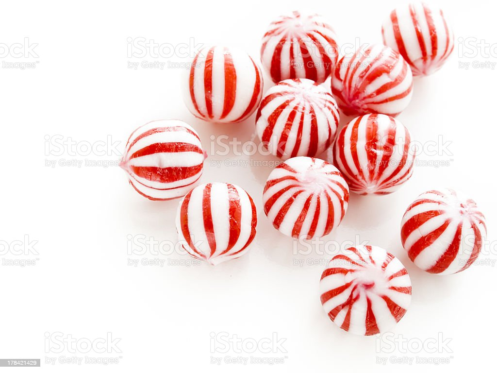 Peppermint candies stock photo