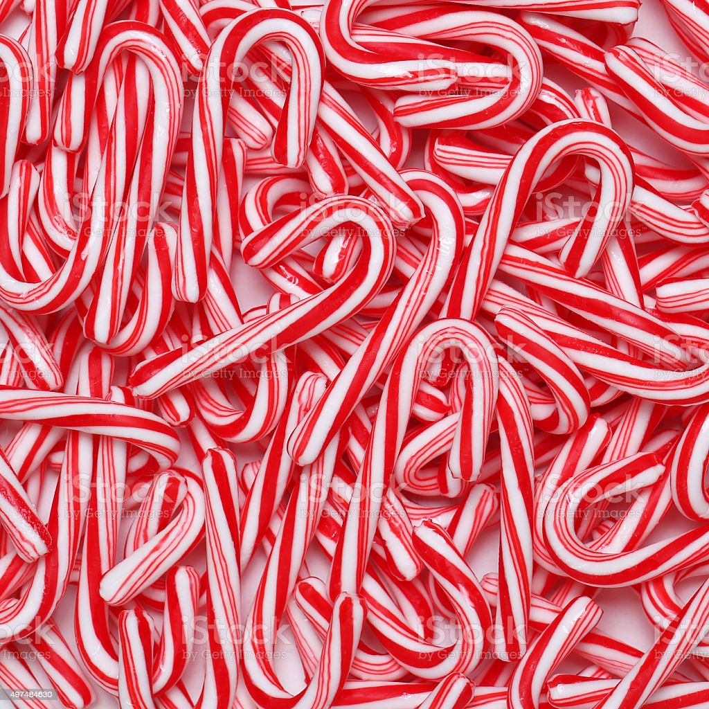 Peppermint candy canes stock photo