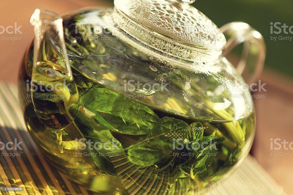 peppermint herbal tea royalty-free stock photo