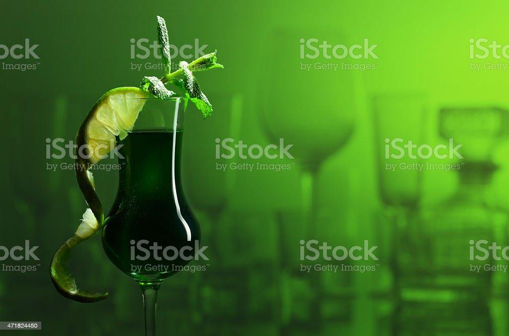 Peppermint liquor stock photo
