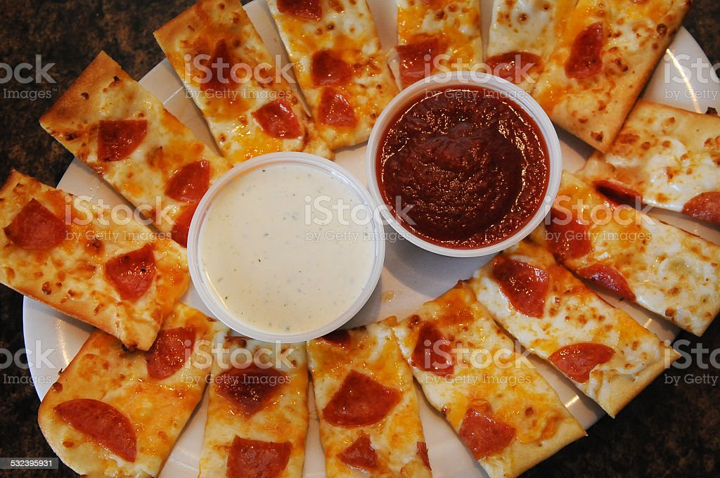 Pepperoni Appetizer Close-Up stock photo