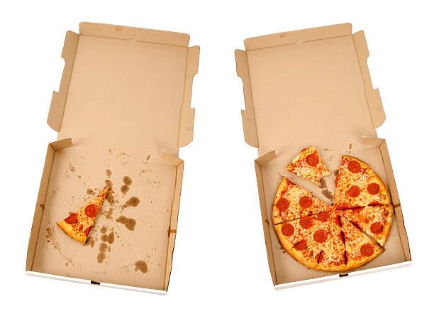 Pepperoni & Cheese Pizzas stock photo