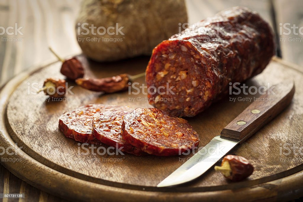Pepperoni stock photo