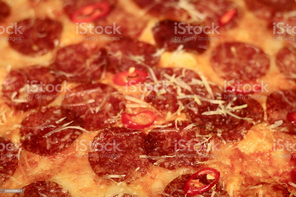 Pepperoni pizza close-up royalty-free stock photo