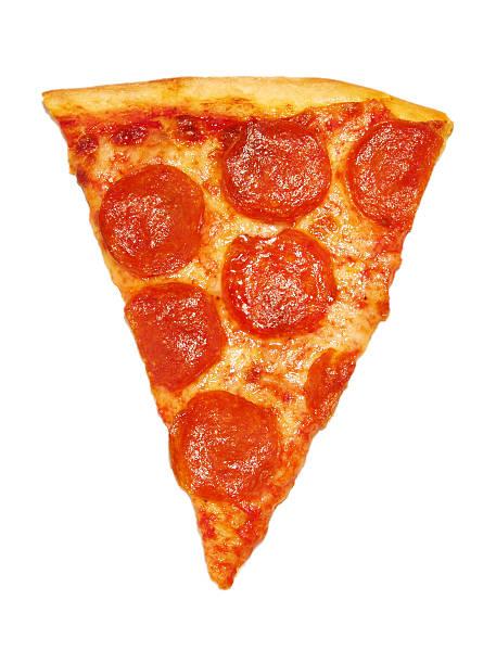 pepperoni pizza slice stock photo