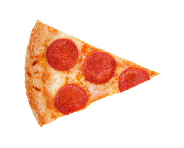 Pepperoni Pizza Slice stock photo