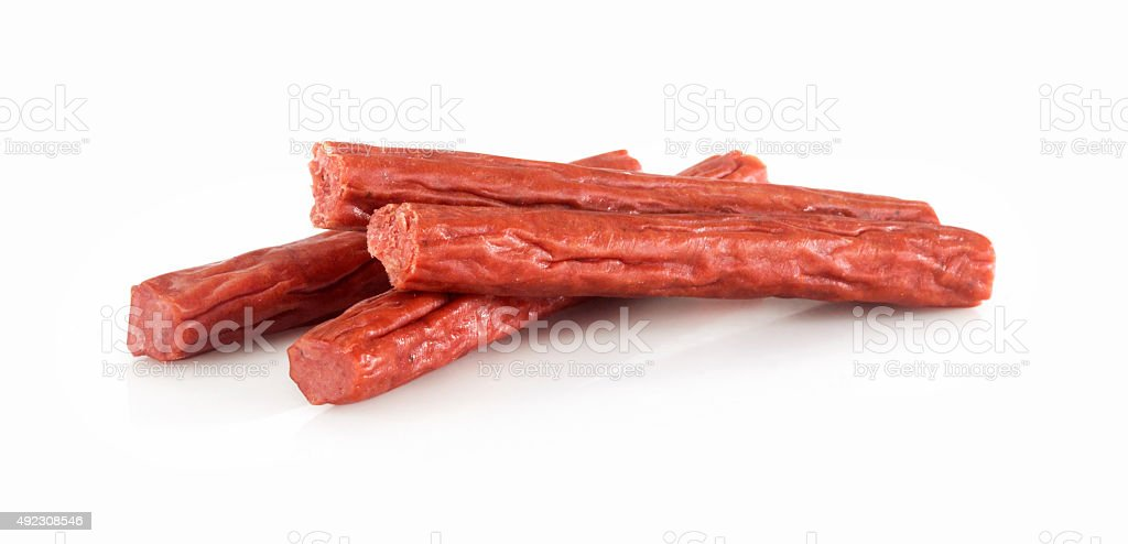 Pepperoni Sticks stock photo